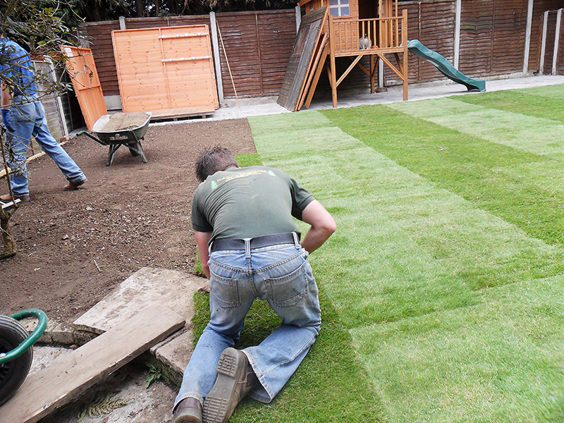 how to prepare old lawn for new turf