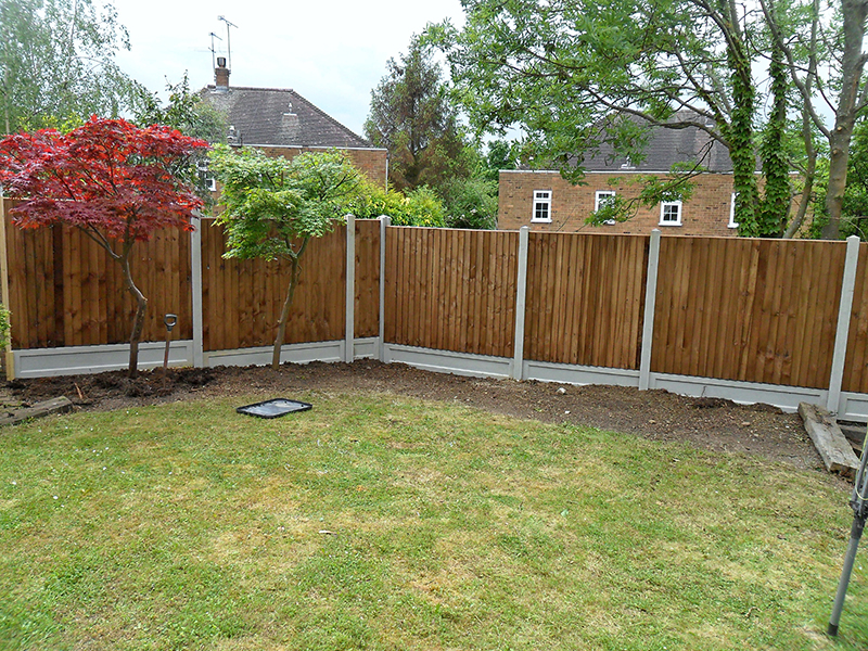 Fence installation complete.