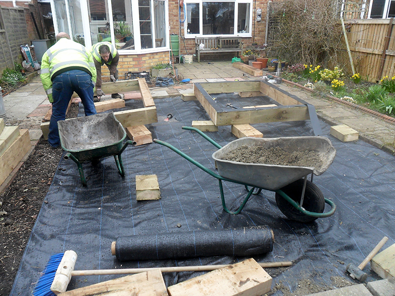 Garden Raised Bed Project D L Landscapes Ltd