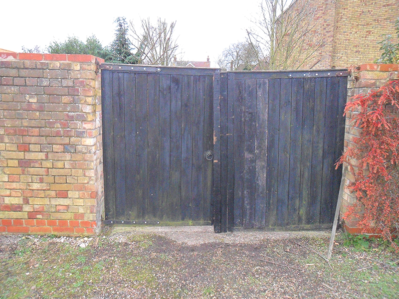 Old gates need replacement.