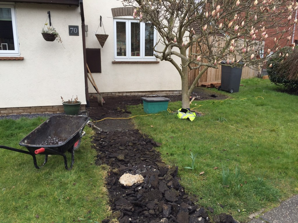 Stage 1 - Excavation of existing path