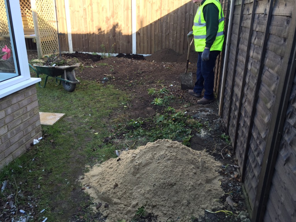 Before Landscaping Job