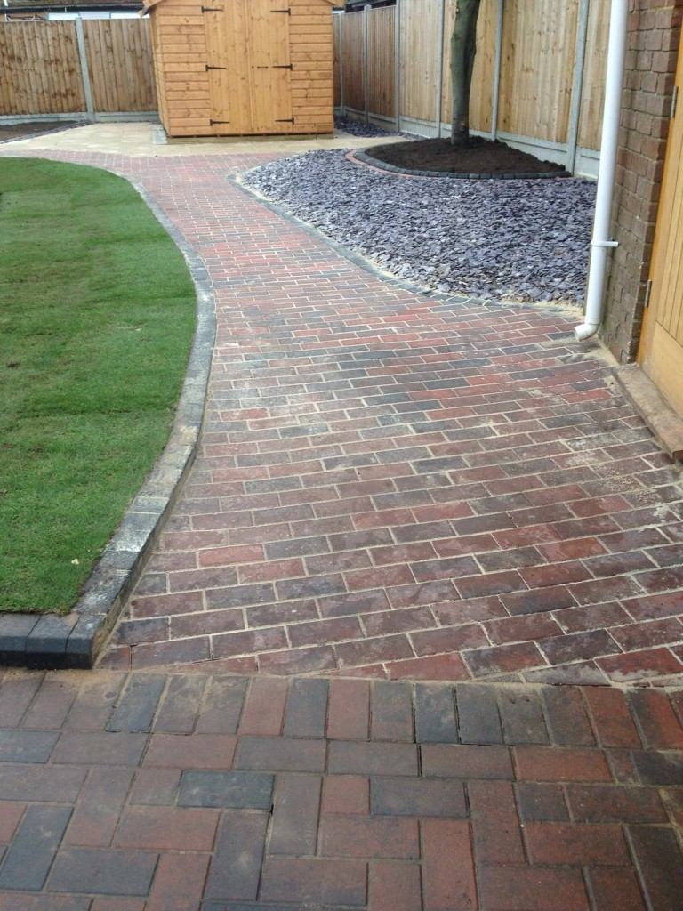 Completed job showing paving area
