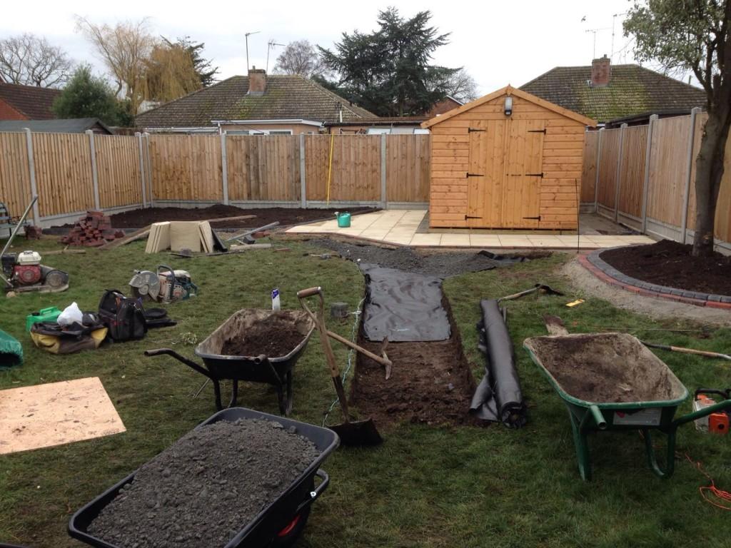Start of full garden makeover