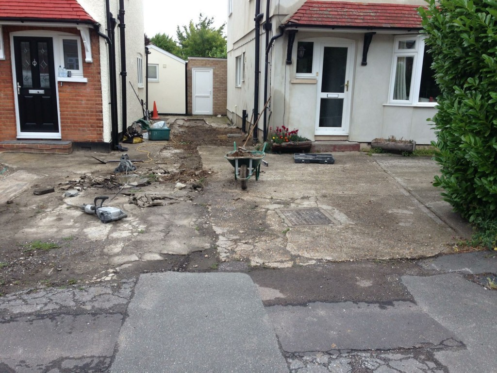 Stage 1 - Removal of old driveway